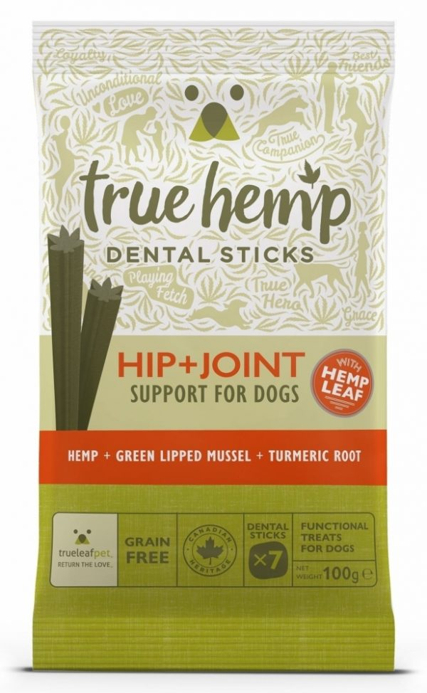 True Hemp dental sticks hip + joint voor honden