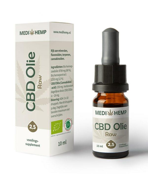 CBD Olie Raw (Medihemp) 2,5% CBD