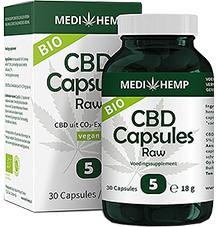 MediHemp CBD capsules raw 5%